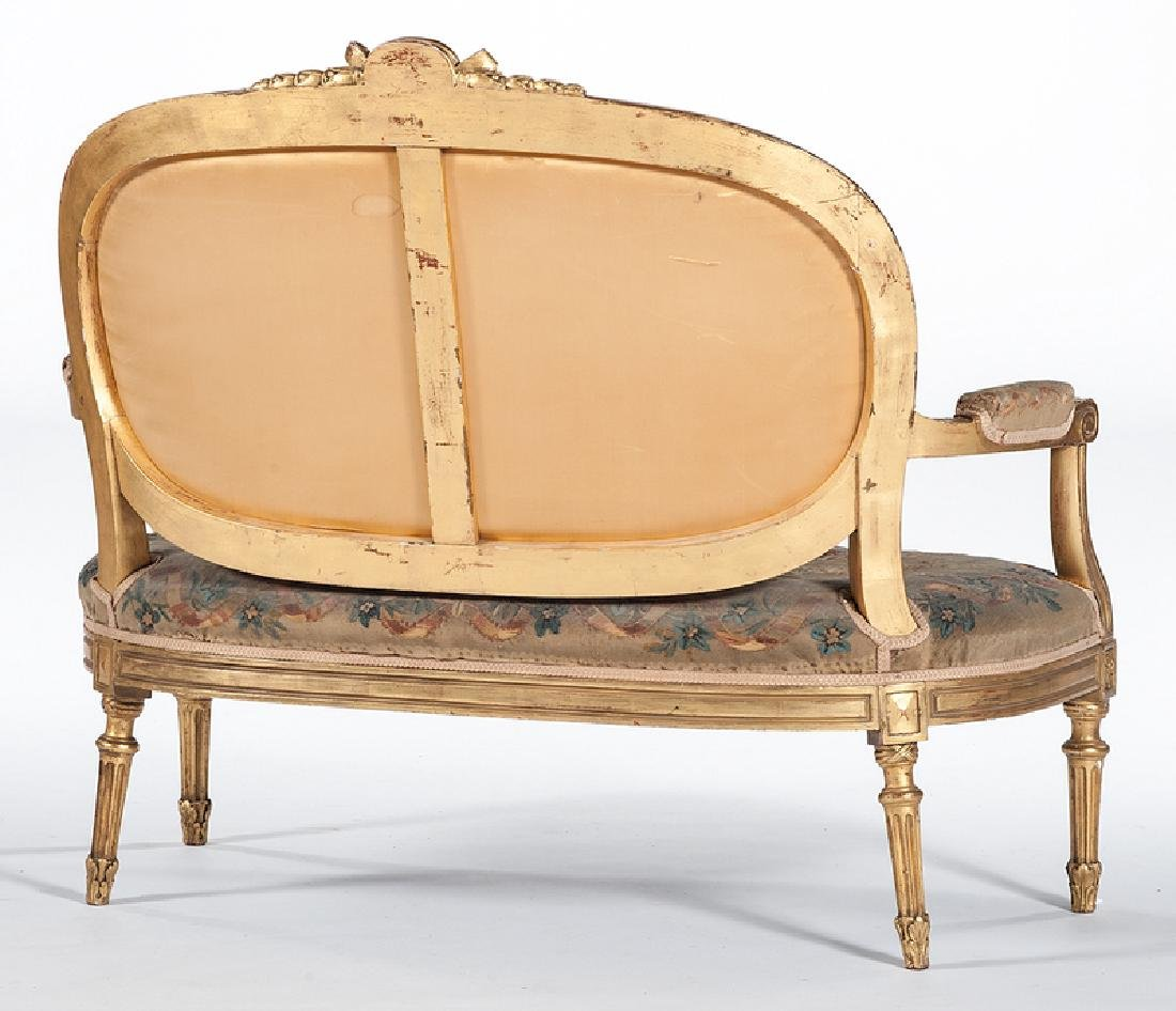 Louis XVI-style Needlepoint Canapé - 3