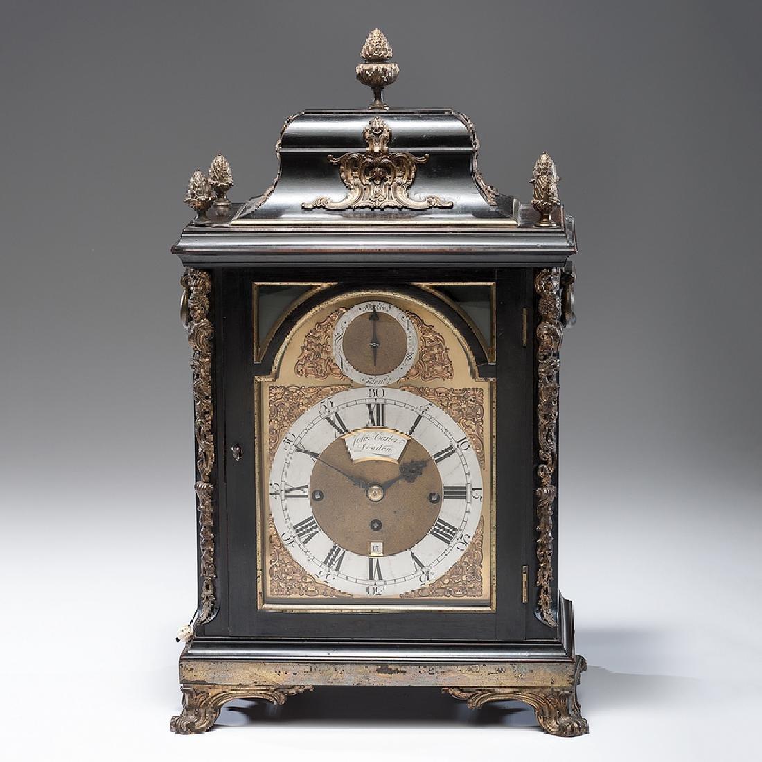 Georgian Bracket Clock, Dial Signed John Carter