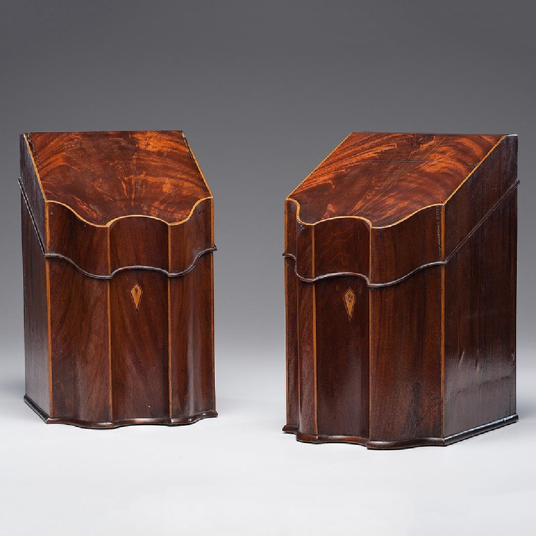George III Mahogany Knife Boxes