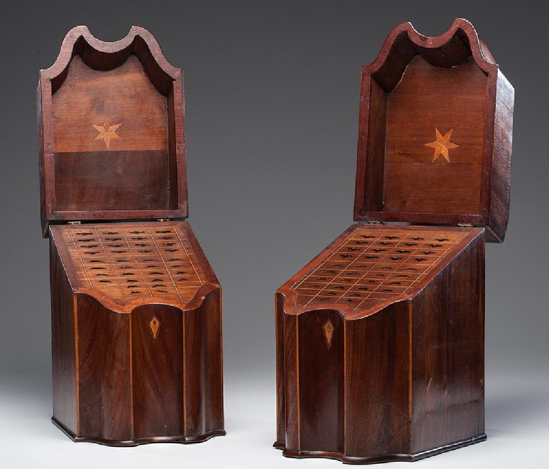 George III Mahogany Knife Boxes - 2