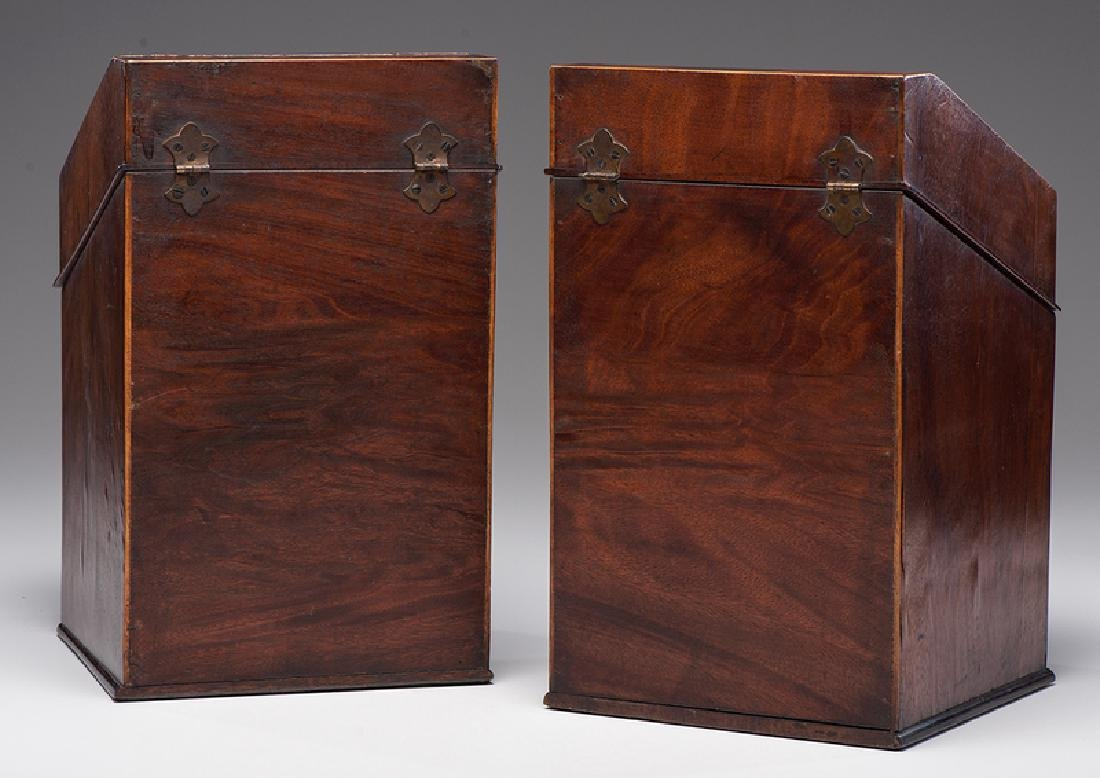 George III Mahogany Knife Boxes - 6