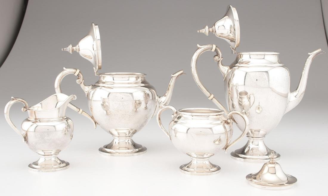Gorham  Sterling Silver Tea and Coffee Service - 2