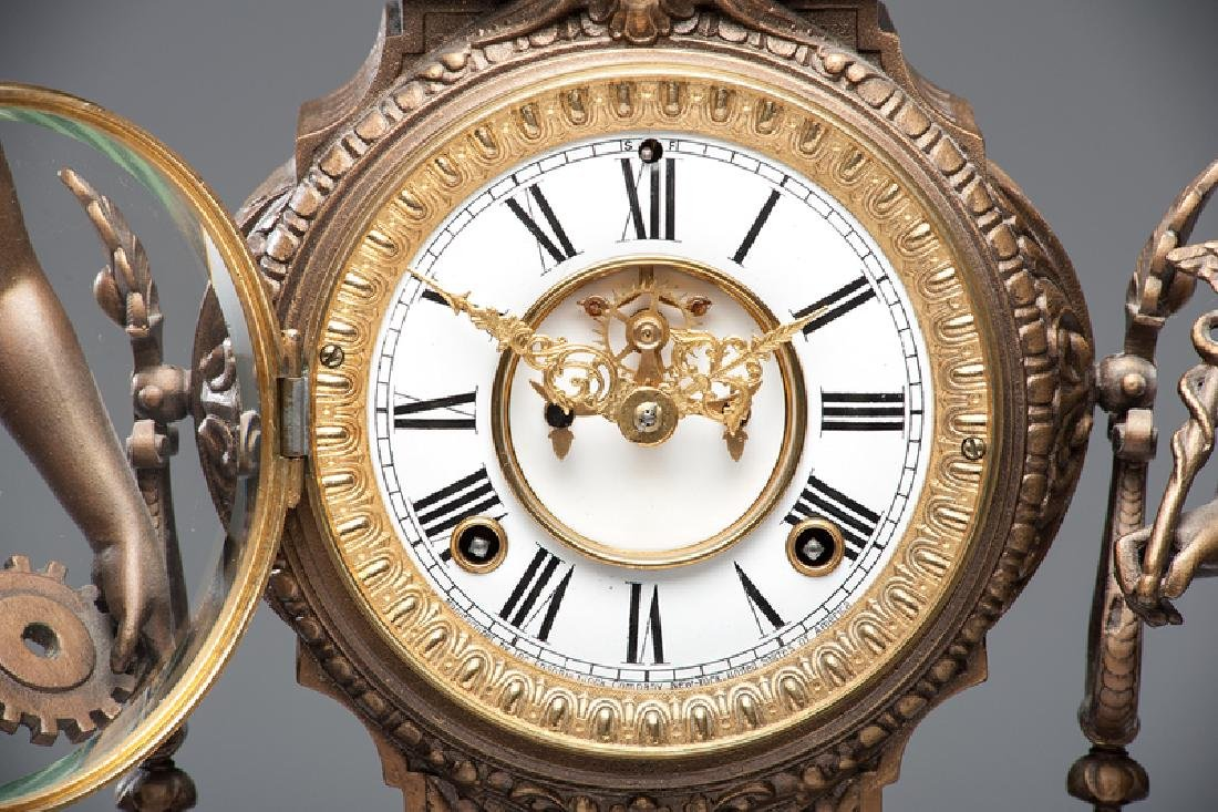 Ansonia  Art and Commerce Mantel Clock - 2