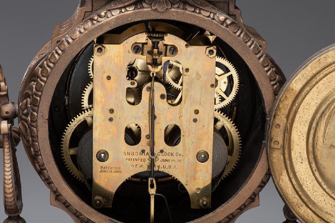 Ansonia  Art and Commerce Mantel Clock - 5
