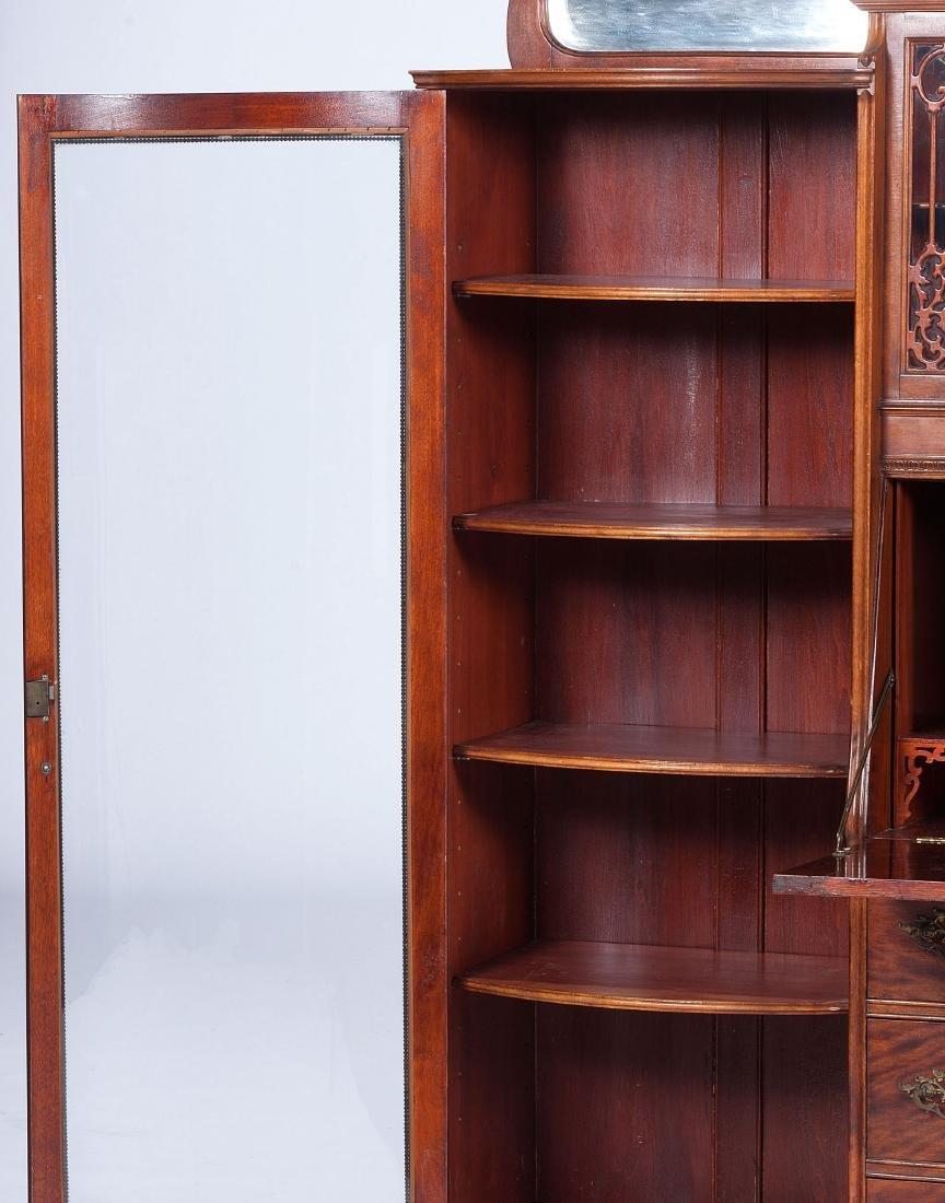 Victorian Mahogany Cabinet and Bookcase - 2