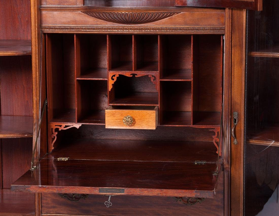 Victorian Mahogany Cabinet and Bookcase - 3