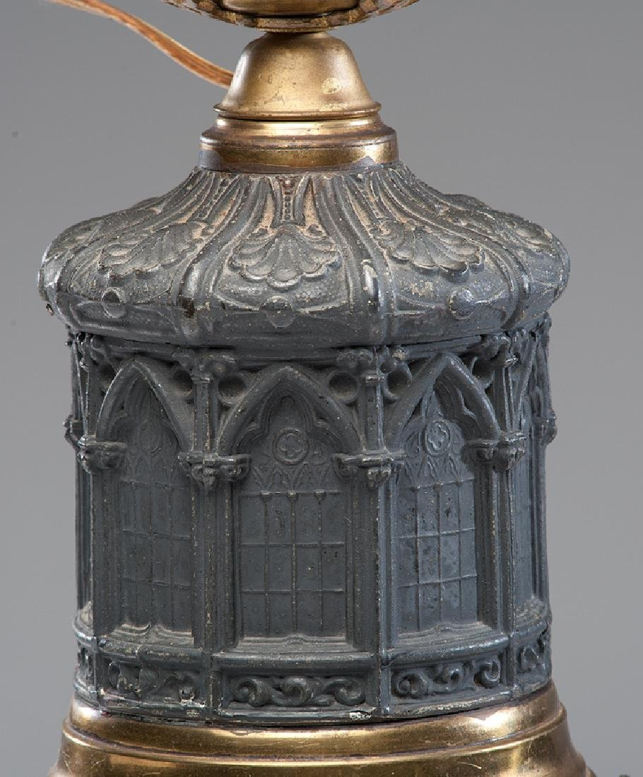 Gothic Revival Cast Iron Lamp - 3