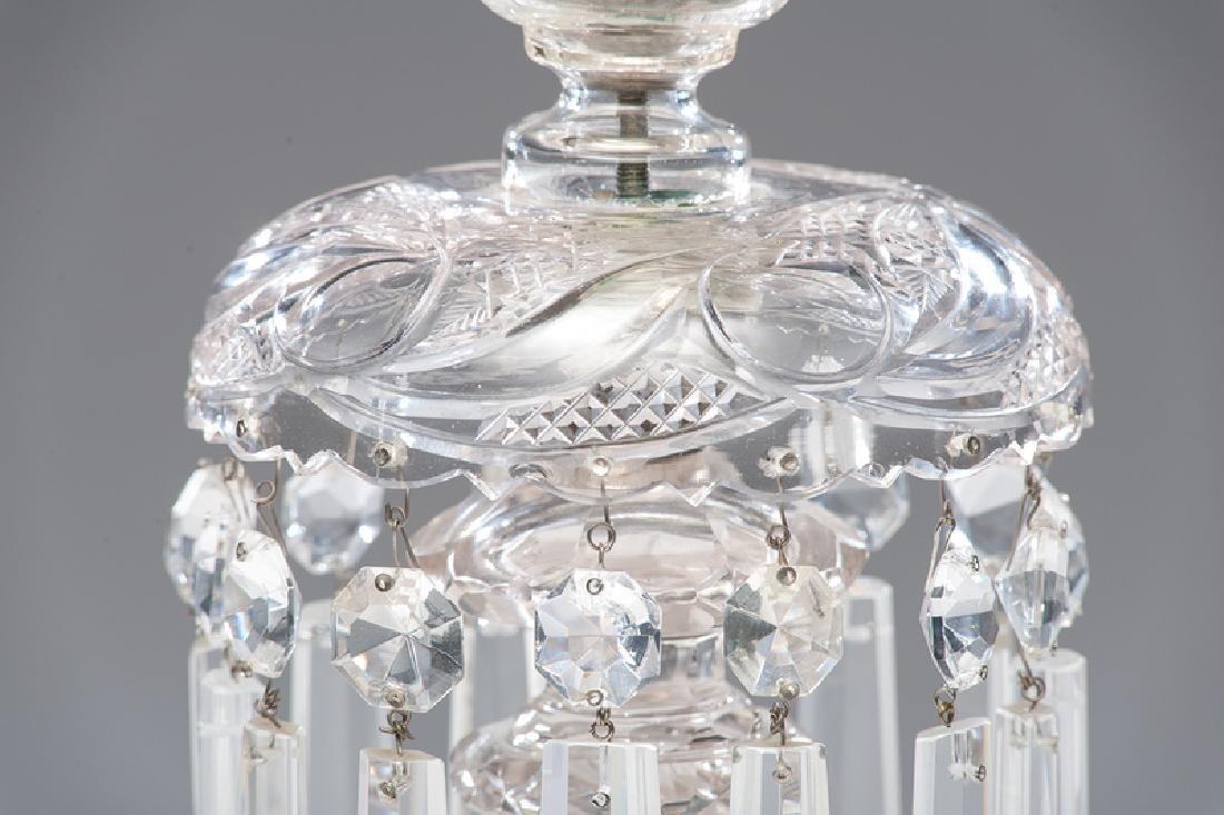 Cut Glass Banquet Lamp - 3