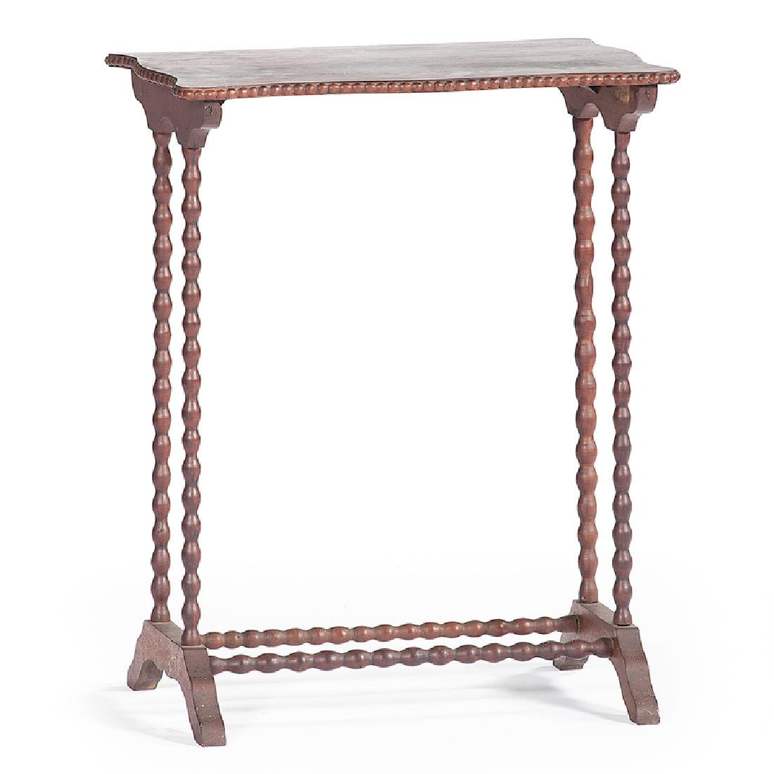 Gothic Revival Spool Turned Work Table