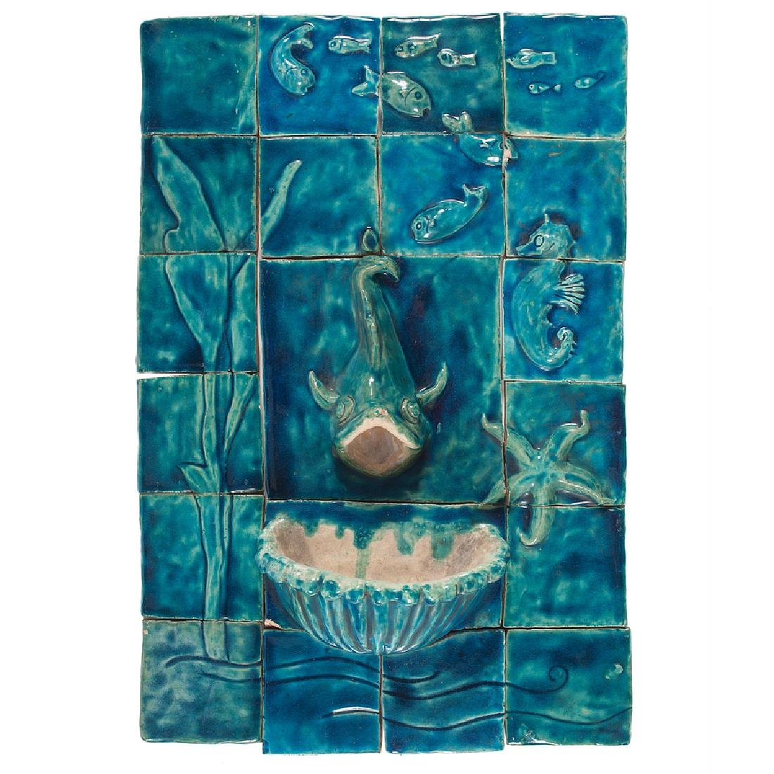 Ceramic Tile Wall Fountain by Ida Carmichael