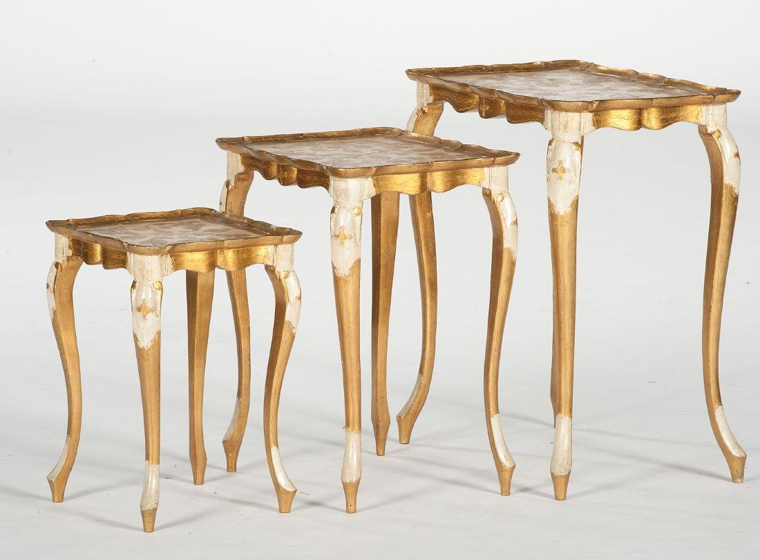 Giltwood Nesting Tables - 2
