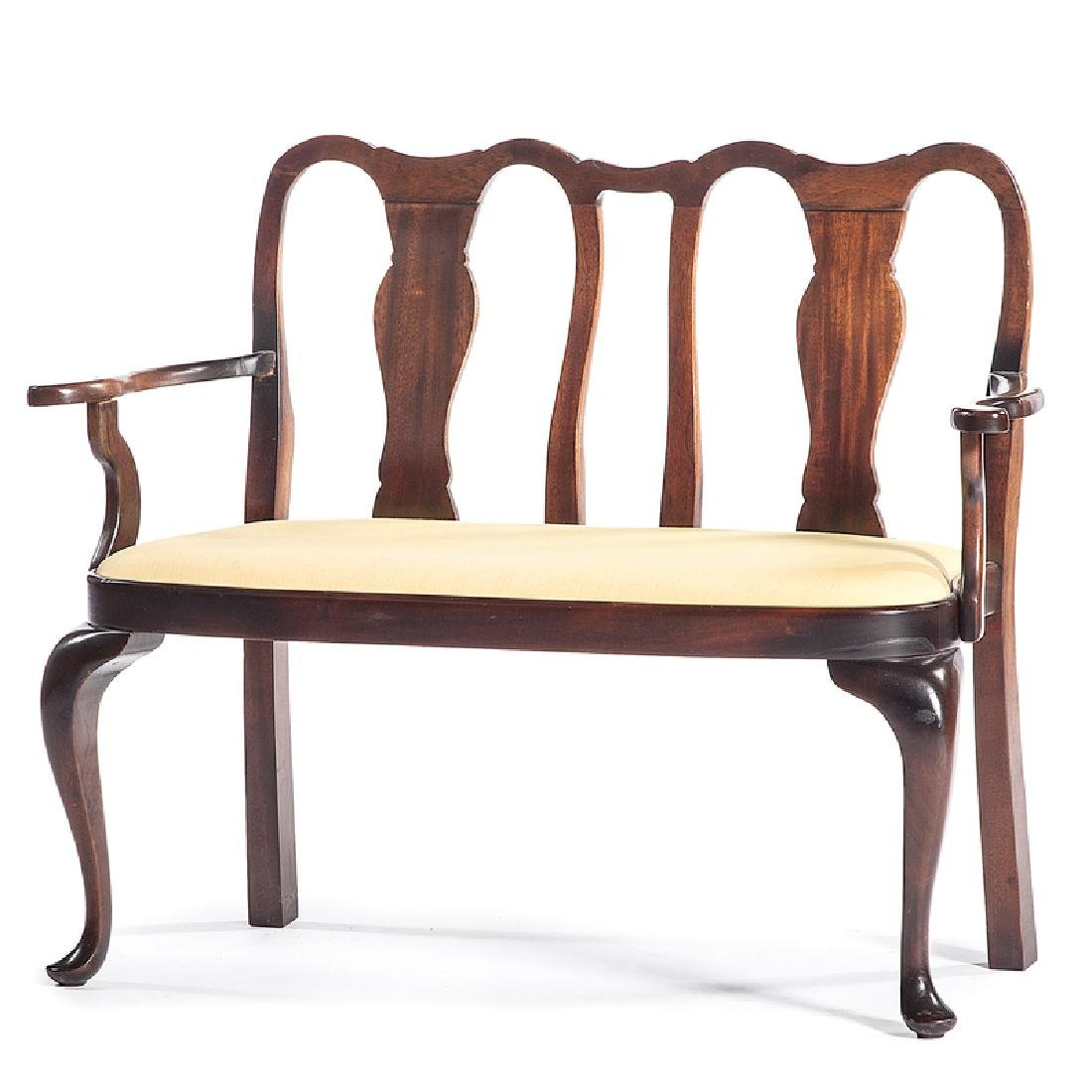Child's Queen Anne-style Settee