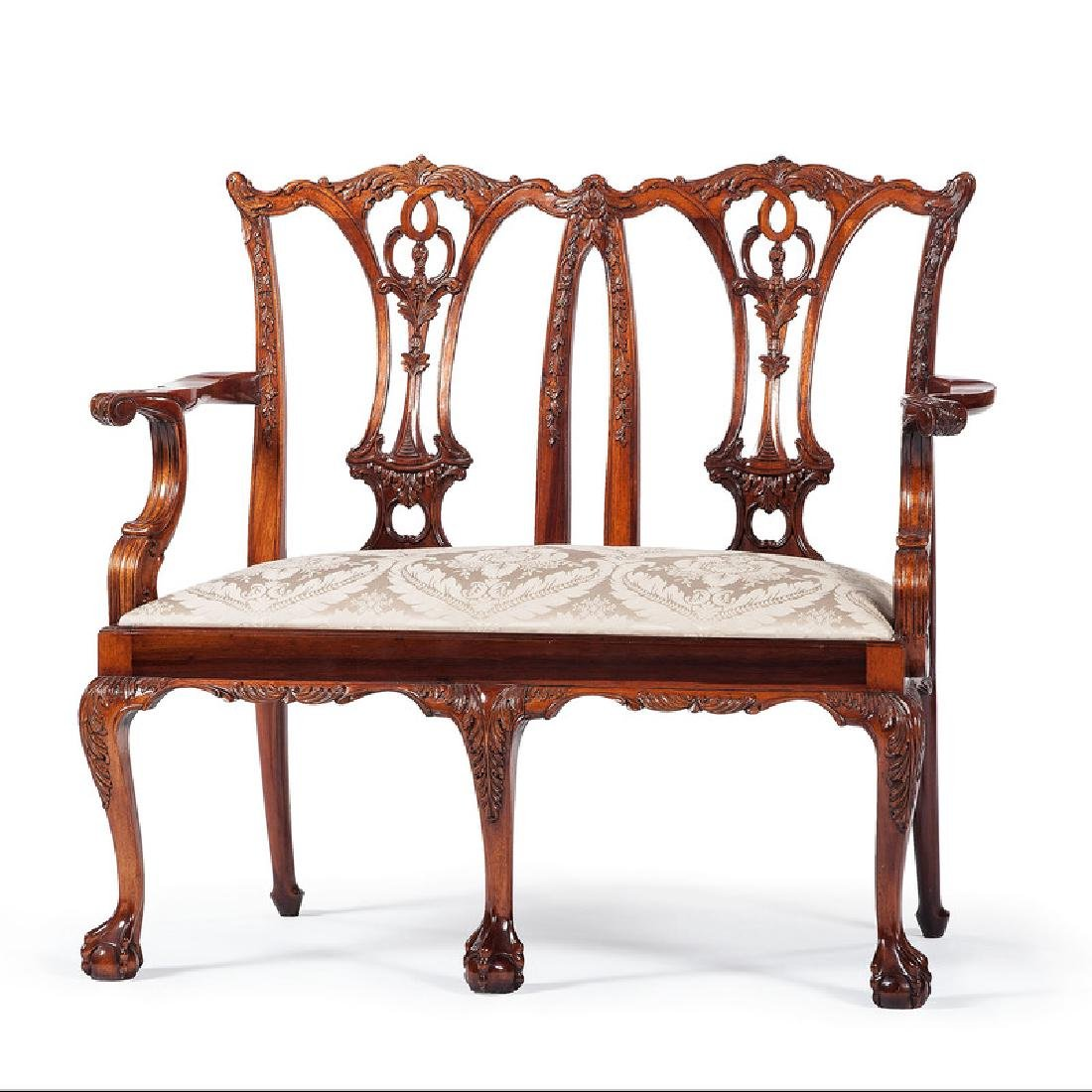 Chippendale-style Settee