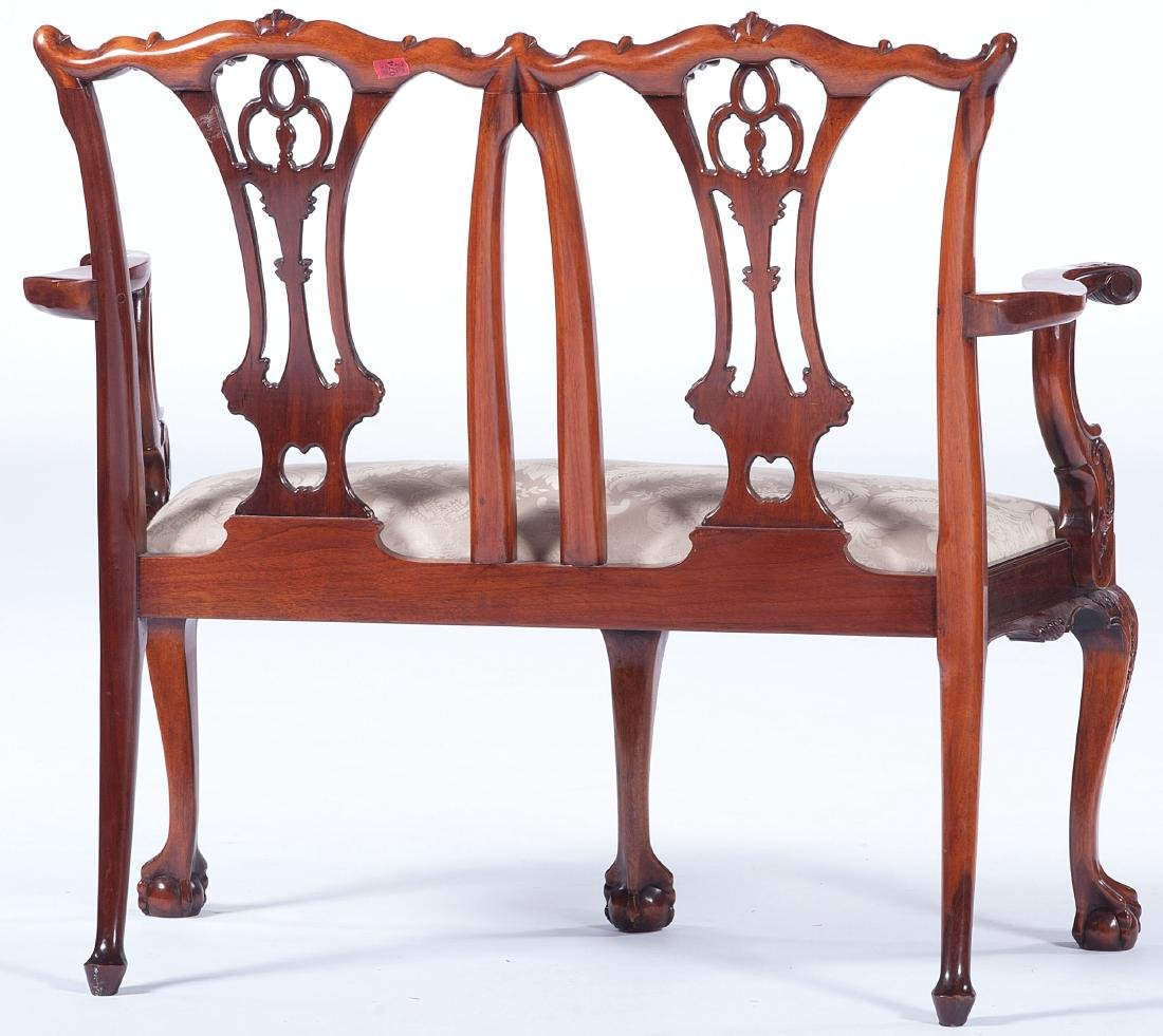Chippendale-style Settee - 3
