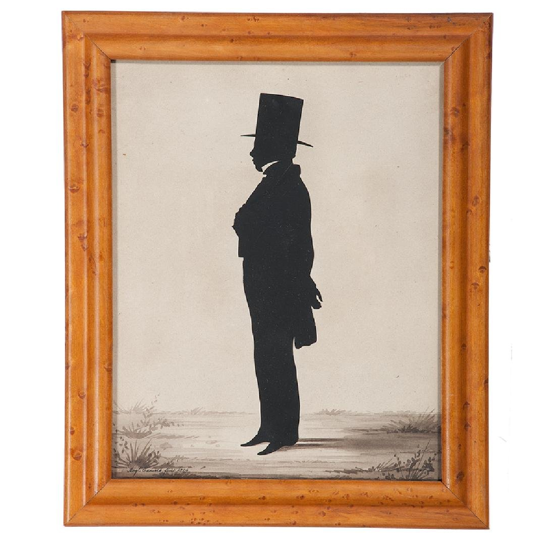 Auguste Edouart, Silhouette of a Gentleman