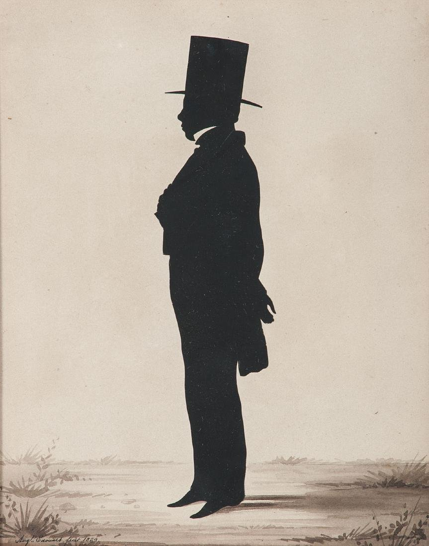 Auguste Edouart, Silhouette of a Gentleman - 2