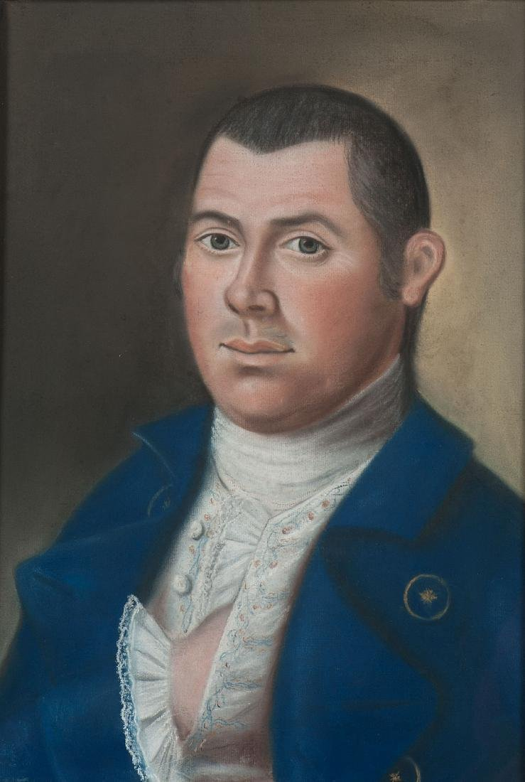 Pastel Portraits of Captain John Collins and Mary - 2