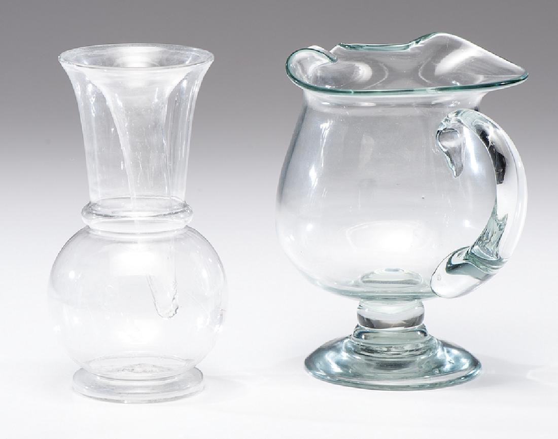 Free Blown Glass Pitcher and Vase - 2