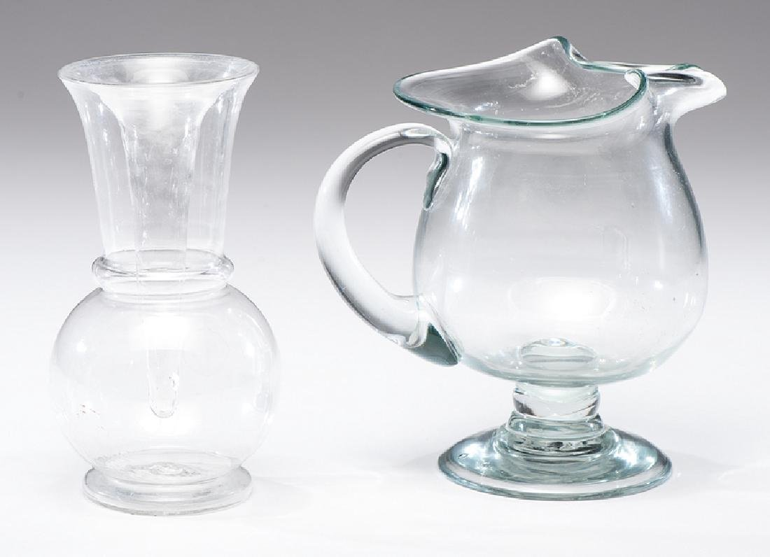 Free Blown Glass Pitcher and Vase - 3