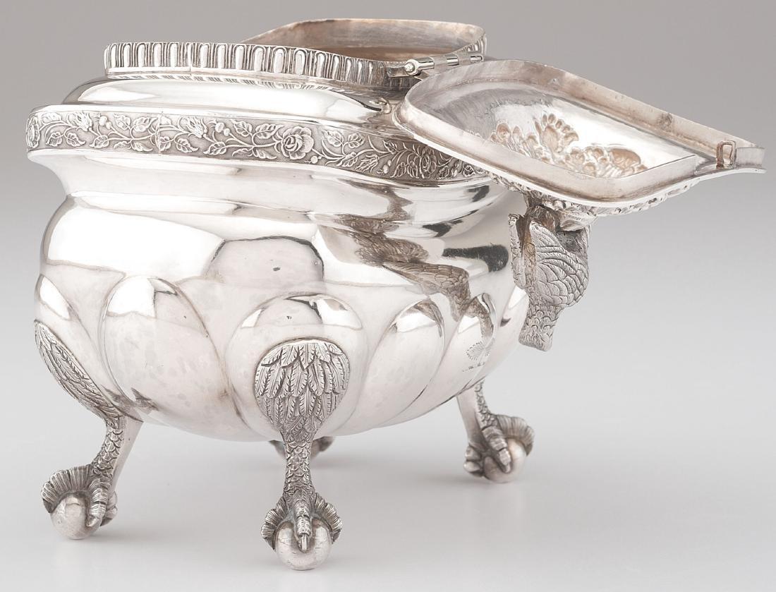 New York Coin Silver Tea Caddy - 2