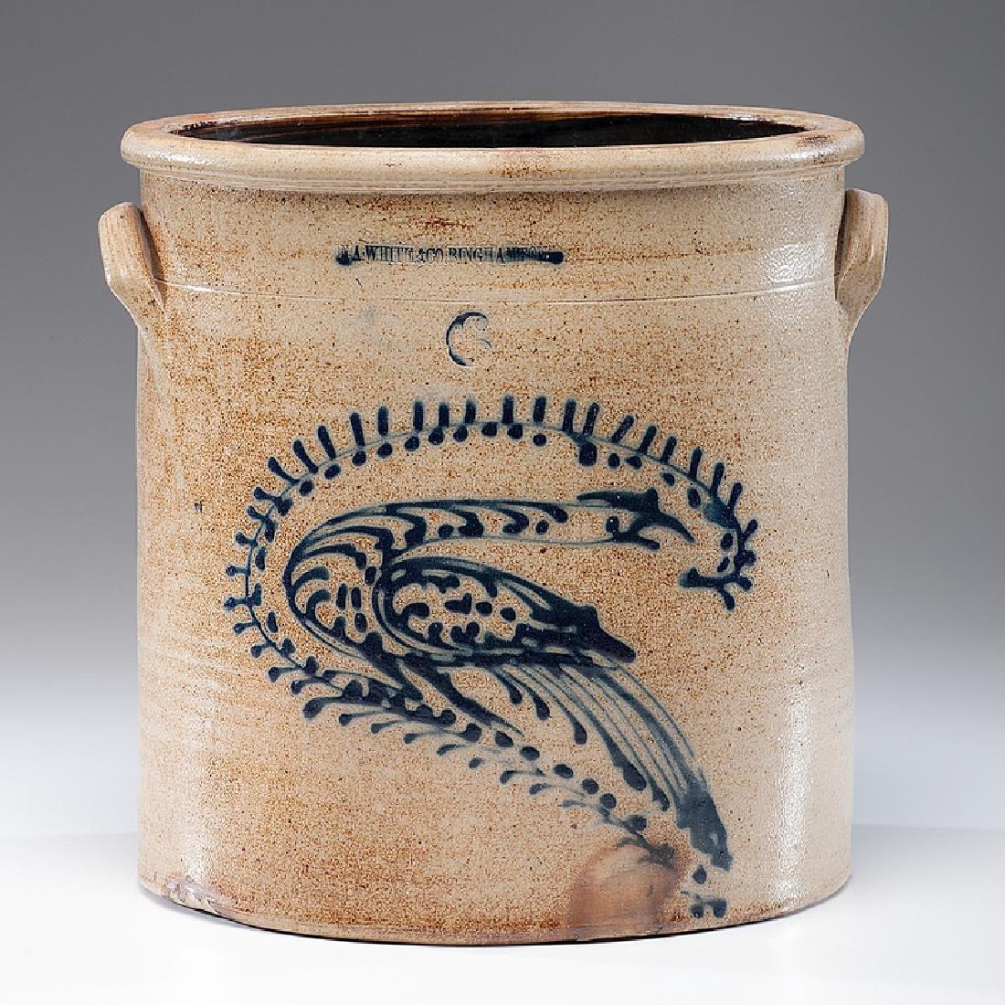 N. A. White & Co.  Six-Gallon Stoneware Crock