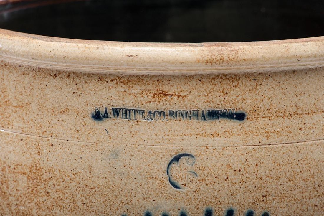 N. A. White & Co.  Six-Gallon Stoneware Crock - 2