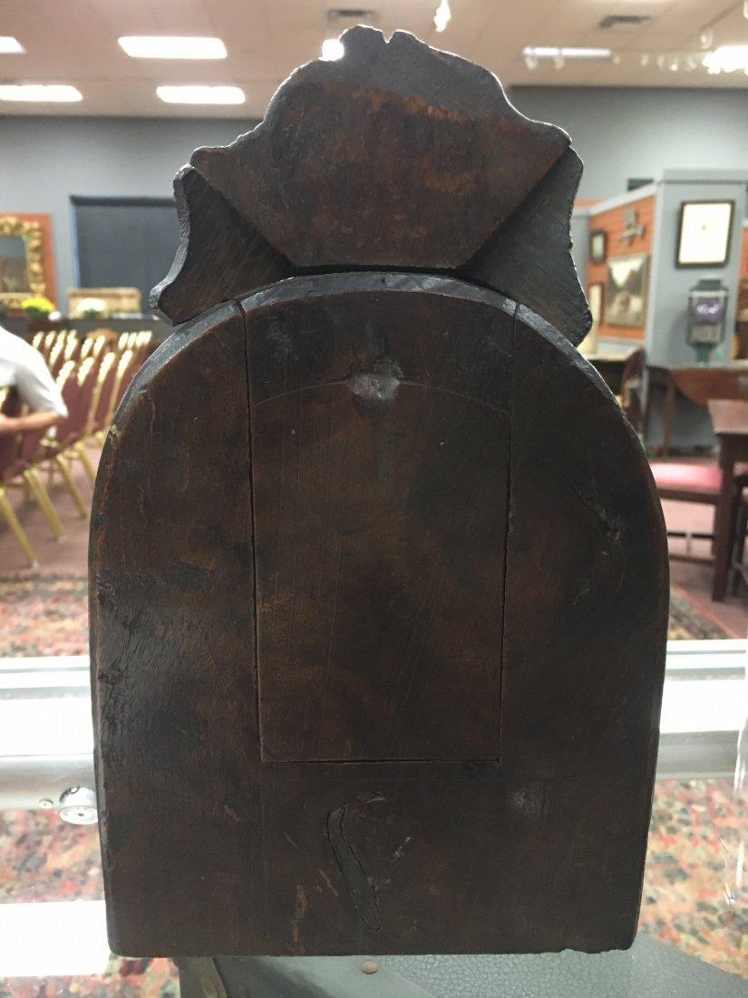 Folk Art Carved Wood Clock Case - 2