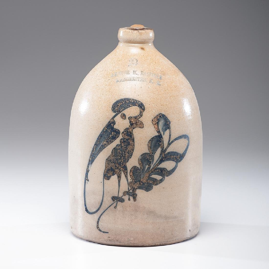 Arthur M. Eastman  Stoneware Jug with Parrot