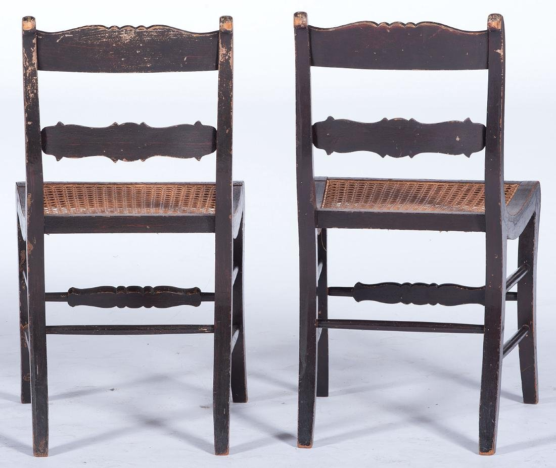 Stenciled Side Chairs - 3