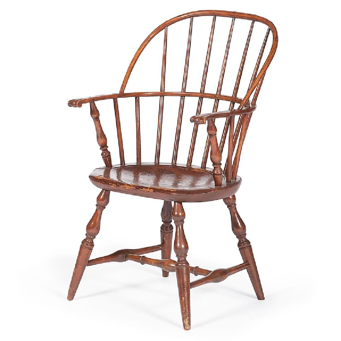 Sack Back Windsor Chair with Knuckle Arms