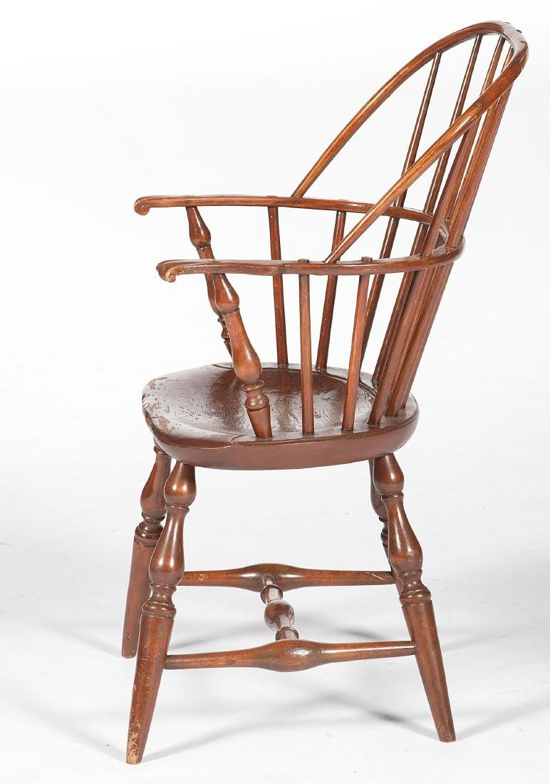 Sack Back Windsor Chair with Knuckle Arms - 2