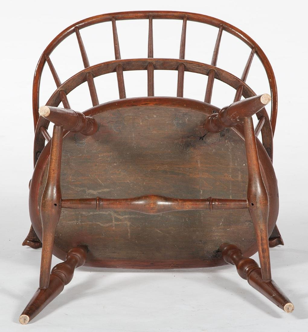 Sack Back Windsor Chair with Knuckle Arms - 4