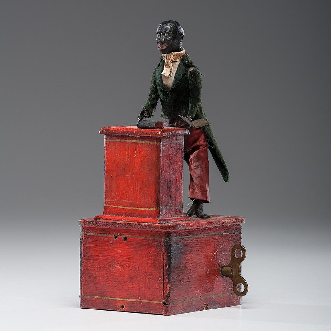 Ives  Preacher At The Pulpit Clockwork Toy