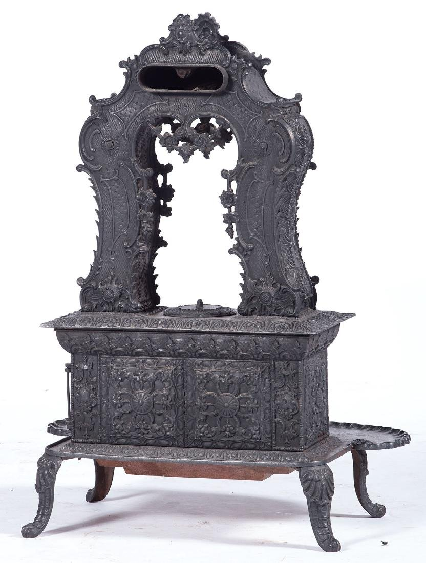 Cast Iron Parlor Stove, Attributed to  Ransom & - 4