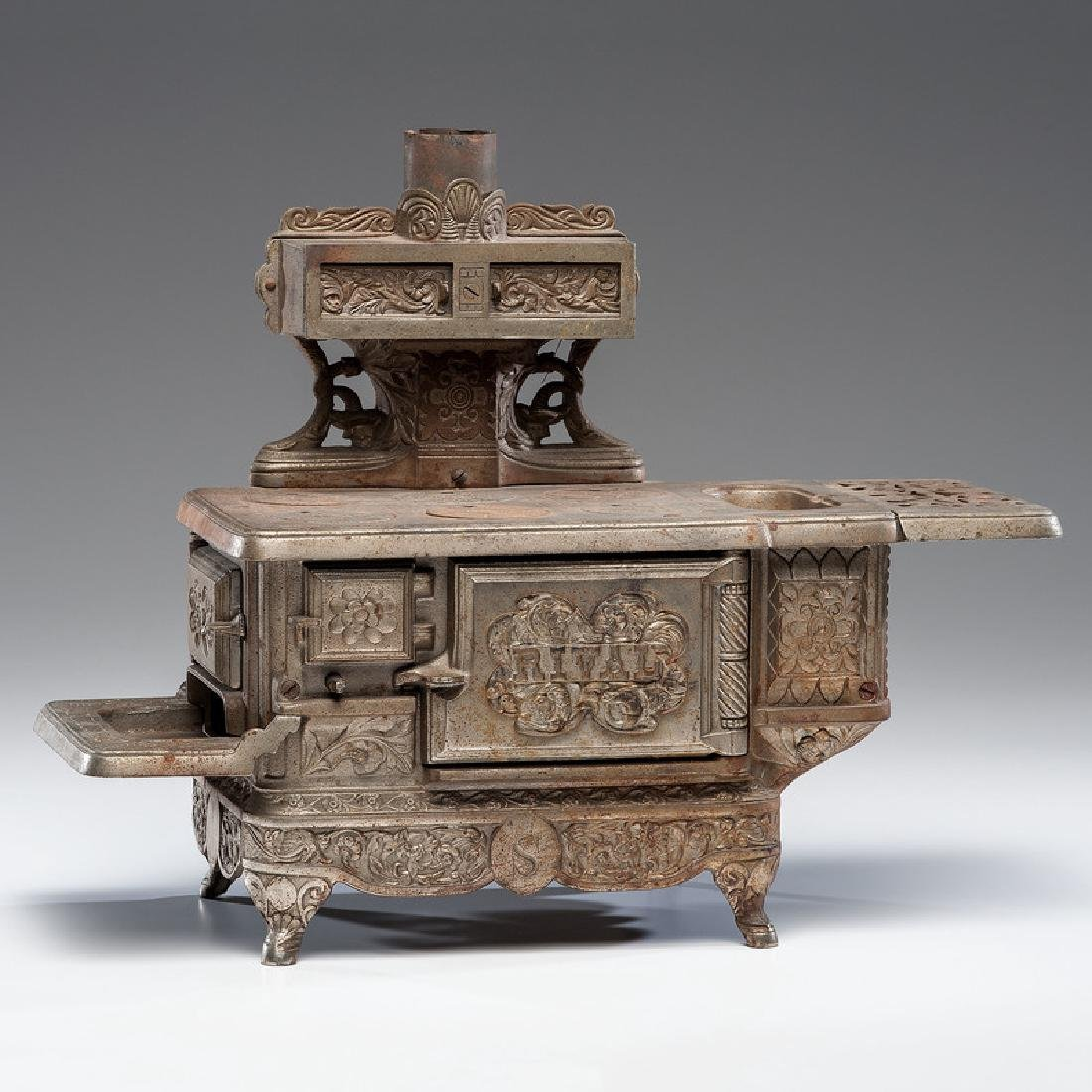 """Rival"" Cast Iron Toy Stove"