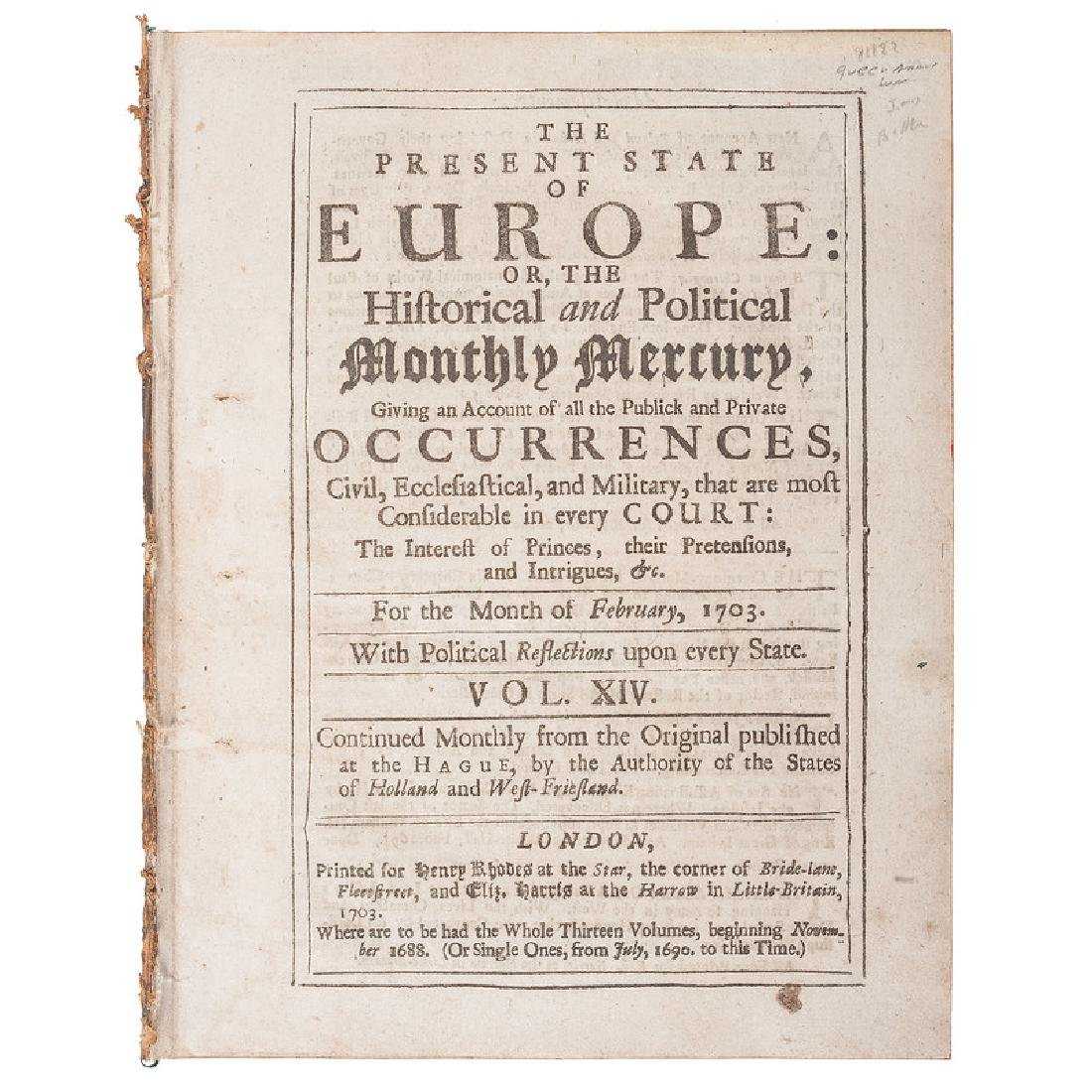 The Present State of Europe: or, the Historical and
