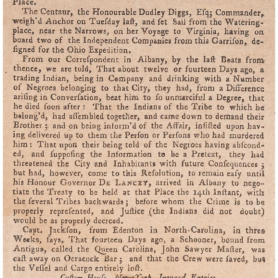 Pennsylvania Gazette, French and Indian War-Era Issue