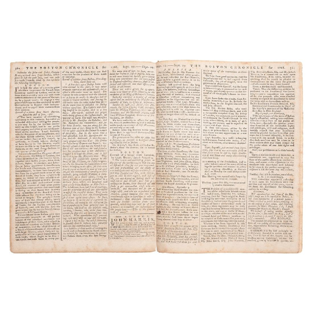 The Boston Chronicle Reporting on the British Tax on