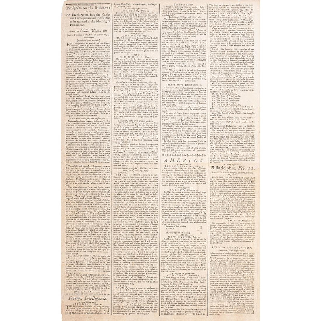 Ratification of the US Constitution by Massachusetts,
