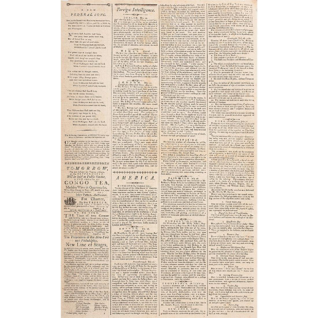 Ratification of the US Constitution Reported in The