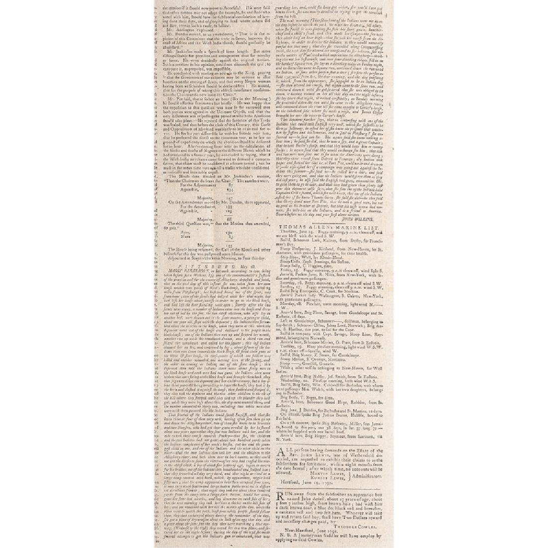 The Connecticut Courant Containing Account of the