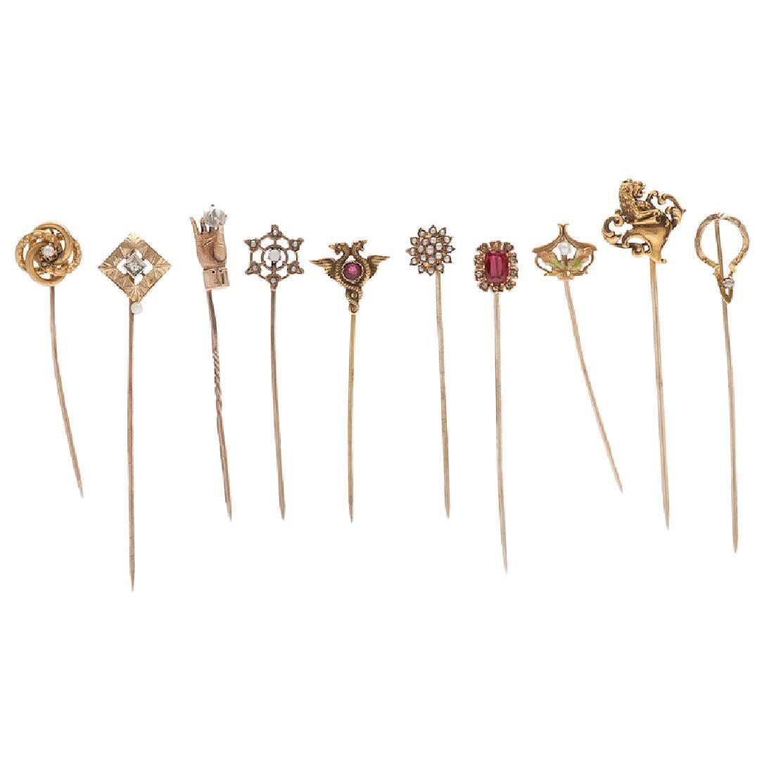 Stickpins in Karat Gold