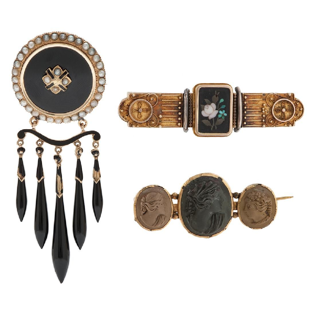 Victorian Brooches in Karat Gold and Gold Filled