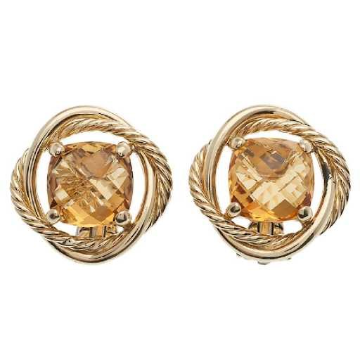 9f8f6c8490a26 David Yurman Infinity Earrings in 18 Karat Yellow Gold