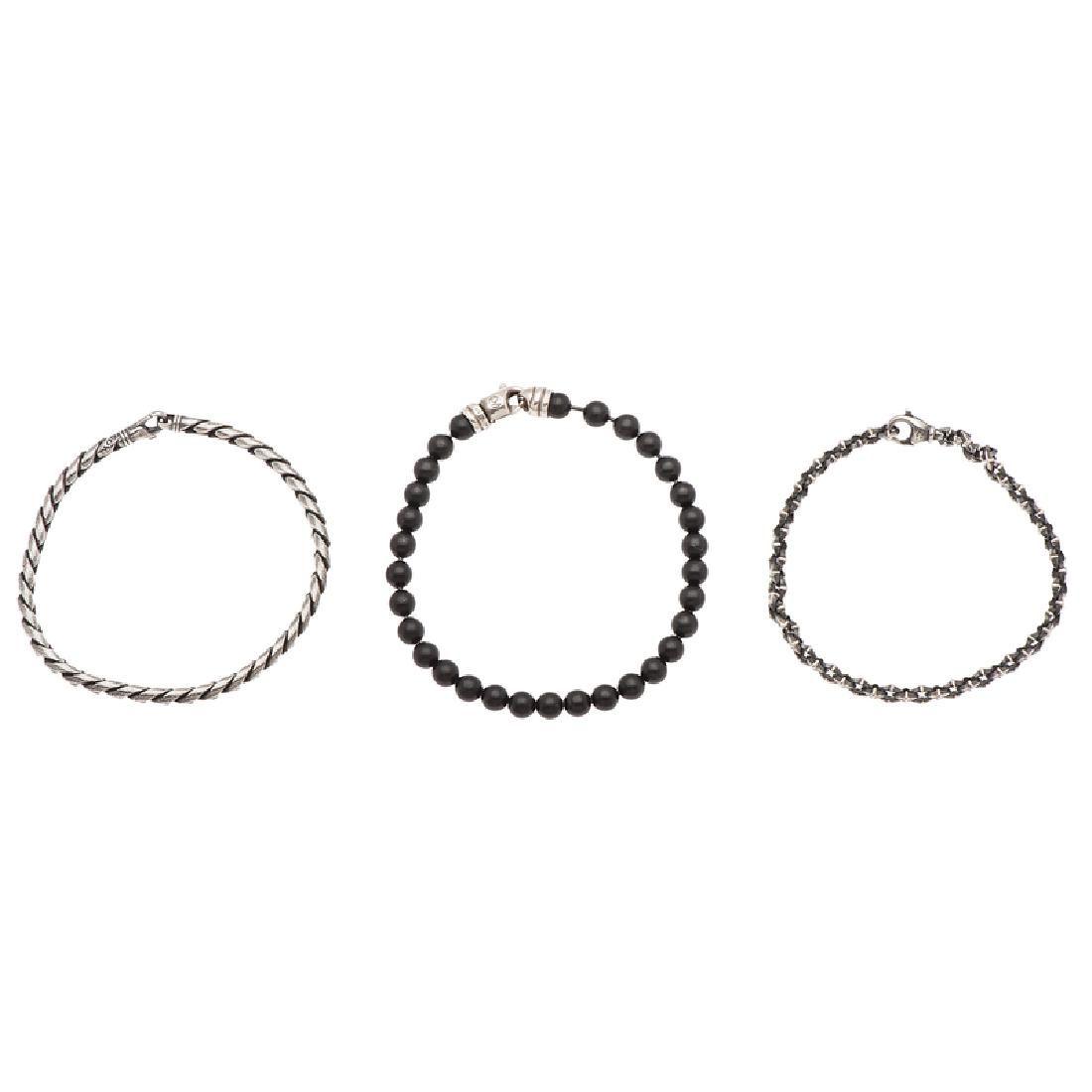 David Yurman Bracelets in Sterling Silver