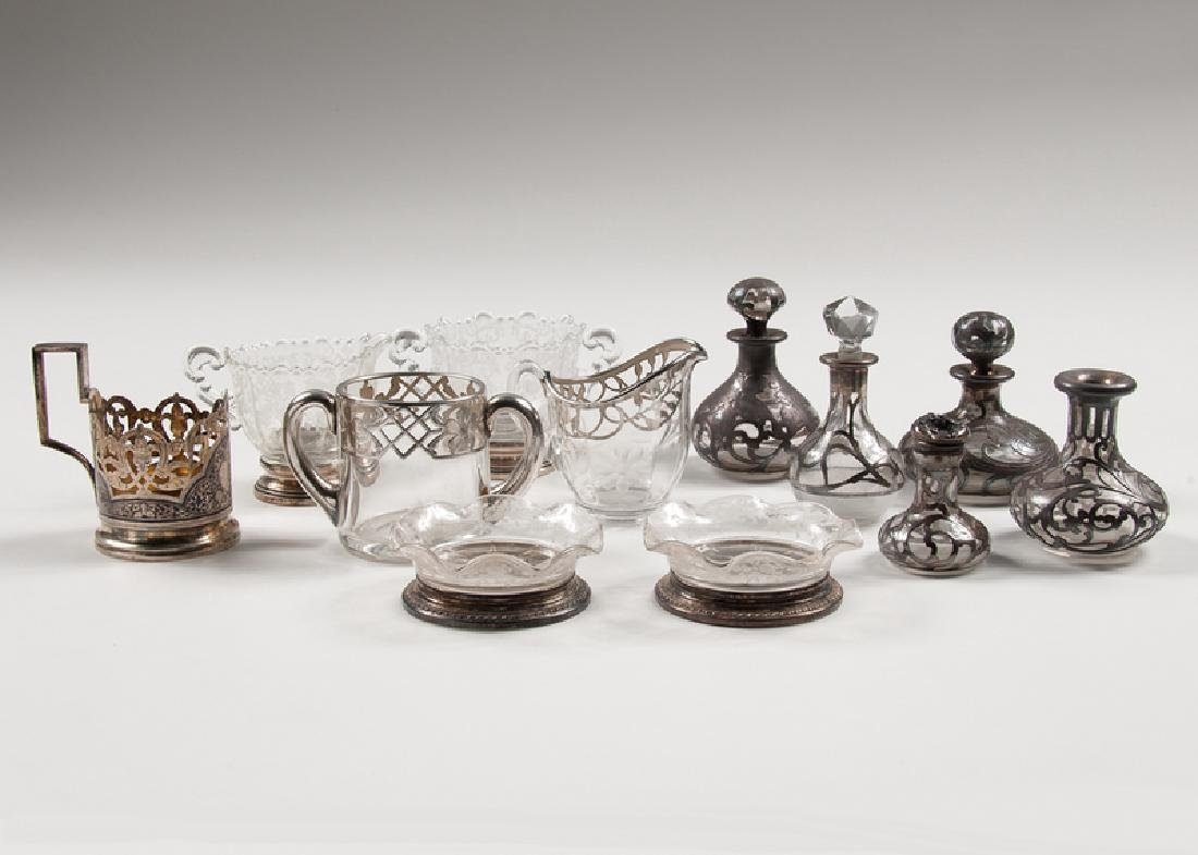Sterling and Glass Tablewares