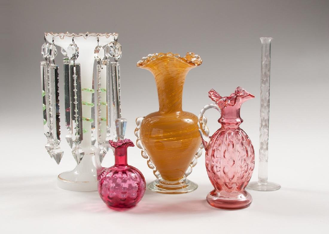 Glass Vases, Decanters, and Luster