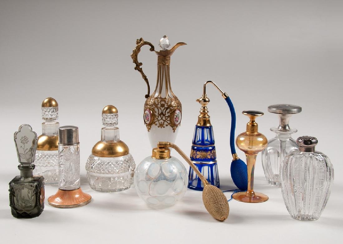 Glass and Metal Perfume Bottles and Atomizers, Plus