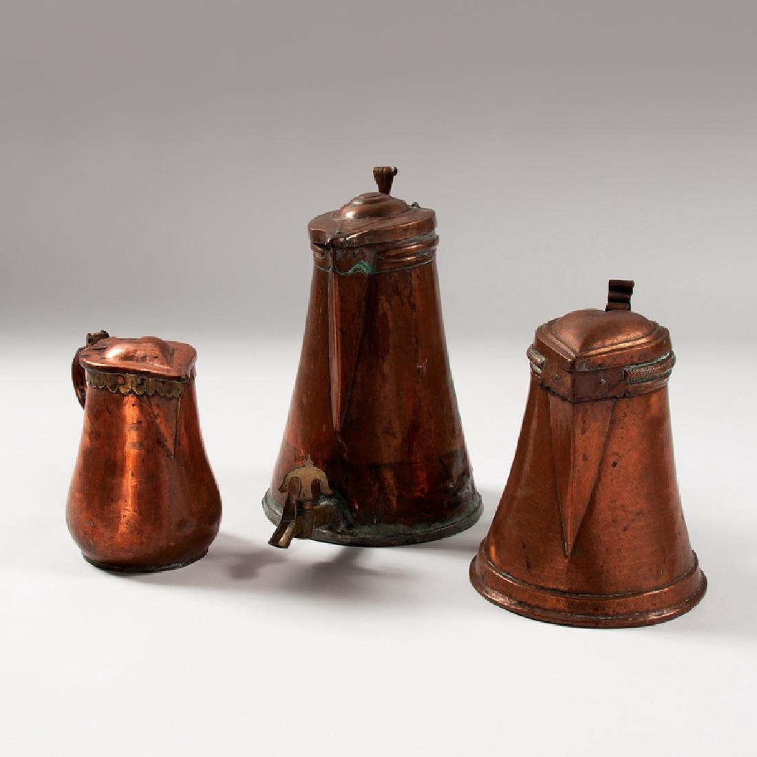Copper Pitchers and Urn