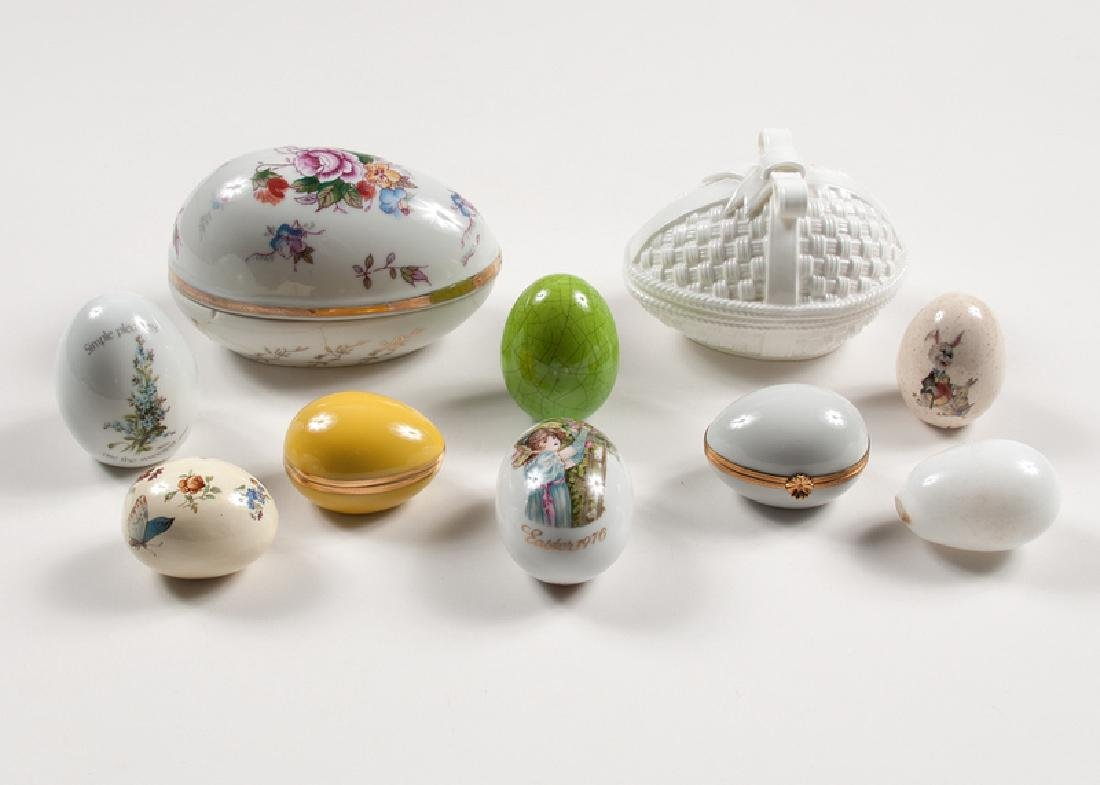 Porcelain Egg-Shaped Boxes, Plus